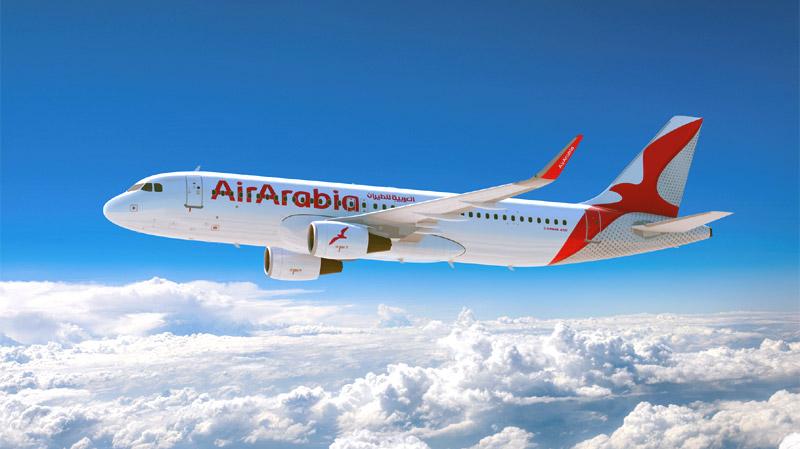 Авиалайнер Airbus A320 авиакомпании-лоукостера Air Arabia