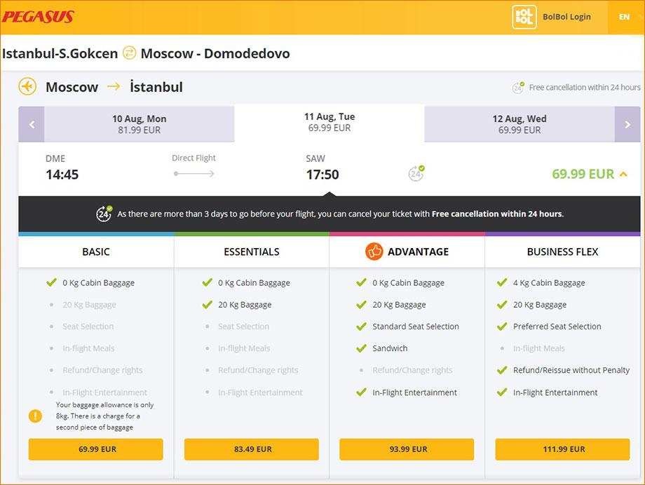 Рейсы лоукостера Pegasus Москва-Анталья: расписание и цены 2020 года