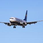 Авиакомпания Ryanair - посадка Боинга-737-800